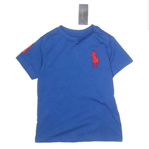 Polo by Ralph Lauren Blue T-shirt NWT Boy's 6